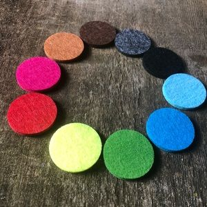 Multicolored Pad Refill for Aromatherapy Necklace